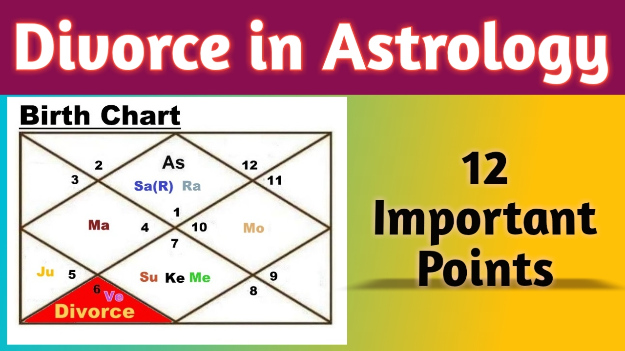 Divorce in Astrology - Vedic Raj Astrology (for all Ascendant)