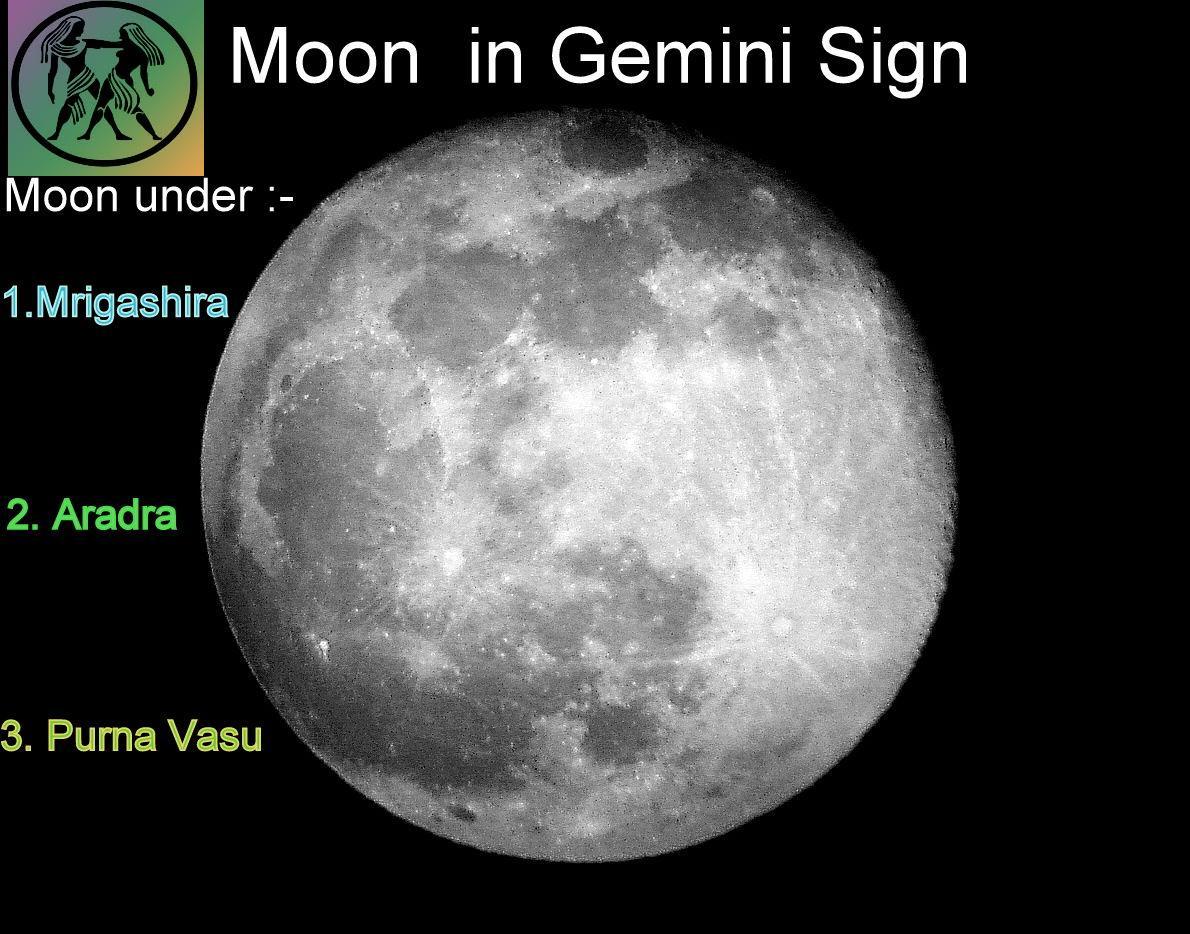 Moon in Gemini sign of birth chart - Vedic Raj Astrology